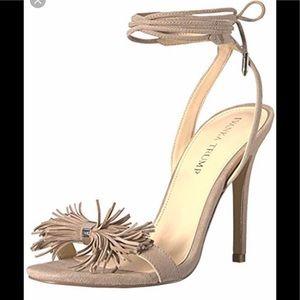 Ivanka Trump Hethal Fringe Lace-Up Sandal Sz 9